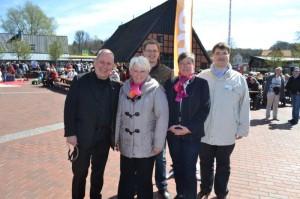 Kreistagskandidaten: Christop J. Lauff (Bad Bramstedt, Angelika Hahn-Fricke (Weddelbrook), Ole Plambeck (Henstedt-Ulzburg), Annette Glage (Boostedt), Anton Josov (Norderstedt)