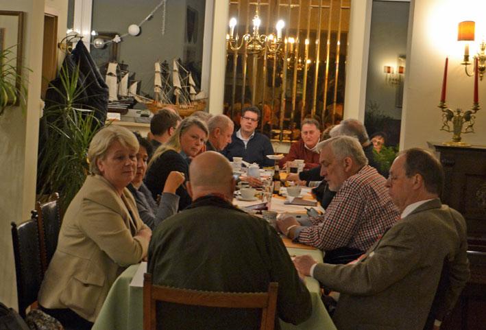 Die CDU-Kreistagfraktion im Rosen Café