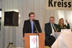 Der stellv. CDU-Kreisvorsitzende Ole-Christopher Plambeck beim Grußwort