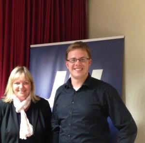 Katja Rathje-Hoffmann MdL und der JU-Kreisvorsitzende Ole Plambeck