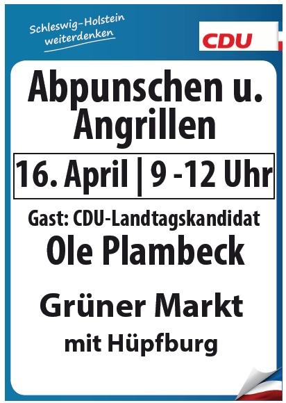 Plakat Angrillen mit Ole Plambeck