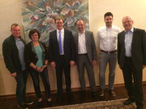 v.l.n.r.: Waldemar Bianga, Margitta Neumann, Ole-Christopher Plambeck, Sven Oldag, Lars Giering, Michael Meschede