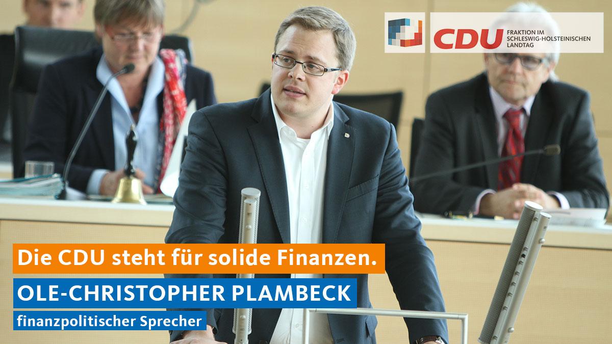 Die CDU steht für solide Finanzen.